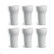 6 Ceramic White Mugs For Coffee/latte/h