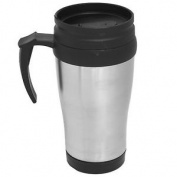 450ml Travel Mug Stainless Steel Plastic Lid Insulated Tea Coffee Thermal Cup
