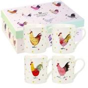 "Alex Clark ""rooster Larch"" Mug Set, Multi-colour"