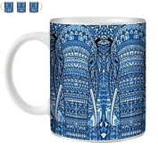 Stuff4 Tea/coffee Mug/cup 350ml/blue/azt