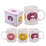 (1x) Fun Donut New Bone China Mug