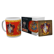 Harry Potter Gryffindor Mug & Coaster Set Ceramic Cup Tea Coffee Hogwarts Wizard