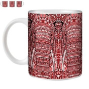 Stuff4 Tea/coffee Mug/cup 350ml/red/azte