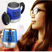 450ml Stainless Self Stirring Mug Auto Mixing Drink Tea Coffee Cup Home Dk