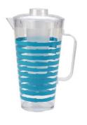 Polar Gear Acrylic Plastic 1.8l Pitcher Jug Ice Stick Blue Stripe Drink Outdoor