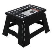 150kg Single Step Plastic Folding Step Up Stools Collapsible Foldaway Large Duty