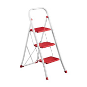 Bonsoni 3 Step Red Step Ladder By Protege Homeware