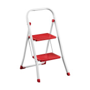 Bonsoni 2 Step Red Step Ladder By Protege Homeware