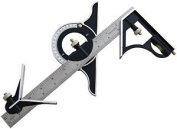 30cm Combination Square With Protractor Carpenters Carpentry Angles Diy Tools