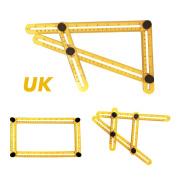 Four-sided Ruler Angle-izer Template Tool Measuring Instrument Mechanism Slides