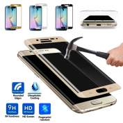 Genuine Full Cover Tempered Glass Screen Protection F for Samsung S6 S7 Edge S8 Plus