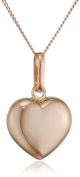 Elements Gold 9ct Rose Gold Heart Pendant on a Chain of Length 46cm