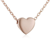 Elements Gold 9ct Rose Gold Heart Charm Necklace on a Chain of Length 43.2cm