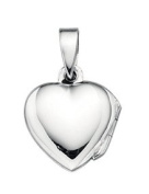 Elements Silver Heart Locket Pendant on a Chain of Length 46cm
