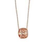 Newbridge Silverware Rose Gold plate Pendant with Clear Stones