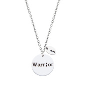 Fighter Warrior Semicolon Necklace Suicide Awareness and Prevention Inspirational Jewellery