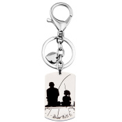 Father's Day Necklace Set There's This Girl Who Stole My Heart She Calls Me Daddy Matching Daddys Girl Heart
