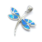 Abalone Wing Dragonfly Sterling Silver Pendant