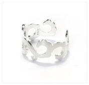 iszie jewellery Sterling Silver Sweet Hollow Propitious cloud designed Open Ring, Adjustable Ring