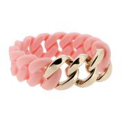 Hanse Klunker Original 107028 Salmon Rose Gold Stainless Steel Women's Bracelet