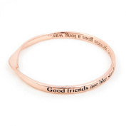 Rose Gold Message Bangle Good friends are like stardust a little sprinkle goes a long way