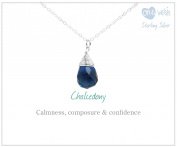 TreasureBay stunning 925 silver and Chalcedony Gemstone Necklace pendant with chain