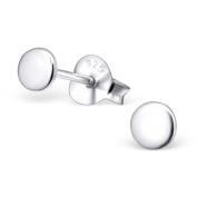 Laimons Ladies' Earrings Ladies' Jewellery disc disc glossy 925 Sterling silver