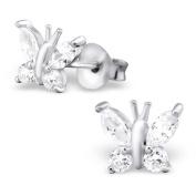 Laimons Ladies' Earrings Ladies' Jewellery butterflies glossy zirconia 925 Sterling silver