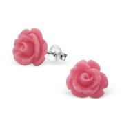 Laimons Ladies' Earrings Ladies' Jewellery rose flower pink 925 Sterling silver