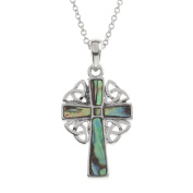 BellaMira Holy Cross Necklace Silver Plated or Abalone Paua Shell or Mother of Pearl Body of Christ Catholic Religious Pendant Jewellery Gift Boxed or Packed