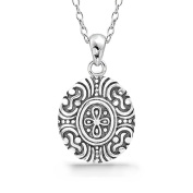 Unique Sterling Silver Balinese Necklace 41cm + 5.1cm Extender - Bali Jewellery, Balinese Jewellery