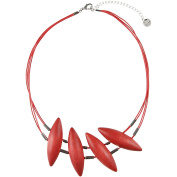 Aarikka TIMOTEI necklace, 50 cm long, strawberry red