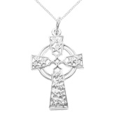 925 Solid Sterling Silver Celtic Cross Star Pendant with Sterling Silver Chain - An Ancient Symbol of Love - Gift Boxed
