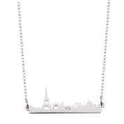 City Skyline Necklace Dainty Architectural Jewellery Anniversary Gift