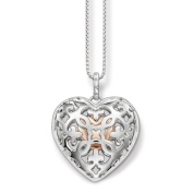 "Thomas Sabo Women's ""Locket Heart"" Silver Gold Plated Rose Gold Necklace with Pendant of Length 38-42cm SCKE150078"