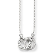 "Thomas Sabo Women's ""Together Forever"" Silver Zirconia Necklace of Length 40-45cm SCKE150159"