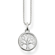 "Thomas Sabo Women's ""Tree of Life"" Bead Silver Zirconia Necklace of Length 38-42cm SCKE150145"