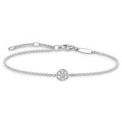 Thomas Sabo Women's Silver Zirconia Adjustable Bracelet of Length 16.5-19.5cm SCA150007