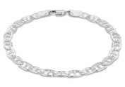 Tuscany Silver Sterling Silver 120 Diamond Cut Rambo Chain Bracelet of 19cm/7.5""