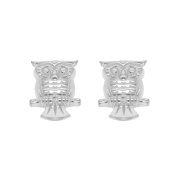 Tuscany Silver Sterling Silver Owl Stud Earrings