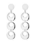 Tuscany Silver Sterling Silver Cut-Out Disc Drop Earrings