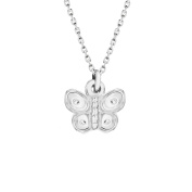 """Tuscany Silver Sterling Silver Butterfly Pendant on Chain Necklace of 46cm/18"""""""