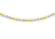 """Tuscany Silver Sterling Silver 2 Tone Yellow and White Chain Necklace of 41cm/16"""""""