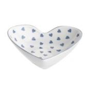 Nina Campbell Bone China Small Heart Shaped Dish Blue Trinket Décor New