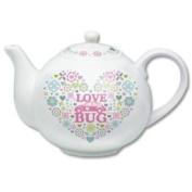 Vw Love Bug Teapot, Beetle Heart Pattern