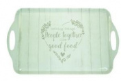 Food For Thought Design 49x29.5cm Plastic Melamine Tea Coffee Snack Serving Tray