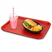 Medium Fast Food Trays Red - Traditional Fast Food Tray, Cafe Tray, Plastic Tray