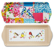 Bird Design Small Melamine Tea Coffee Biscuit Cake Serving Tray Choice Of Design