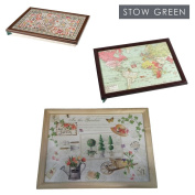 Stow Green Beanbag Padded Lap Tray Laptray In Various Designs