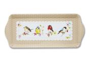 Cooksmart Dawn Chorus Birds Serving Tray Small 39cm X 17cm Plastic Kitchen Drink